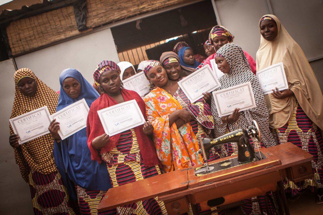 femmes diplomées du centre de formation